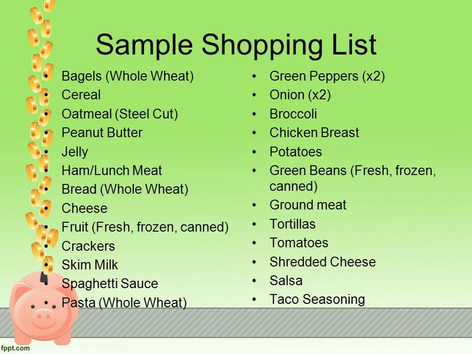 Sample Shopping List Shopping List Template Word Excel Formats