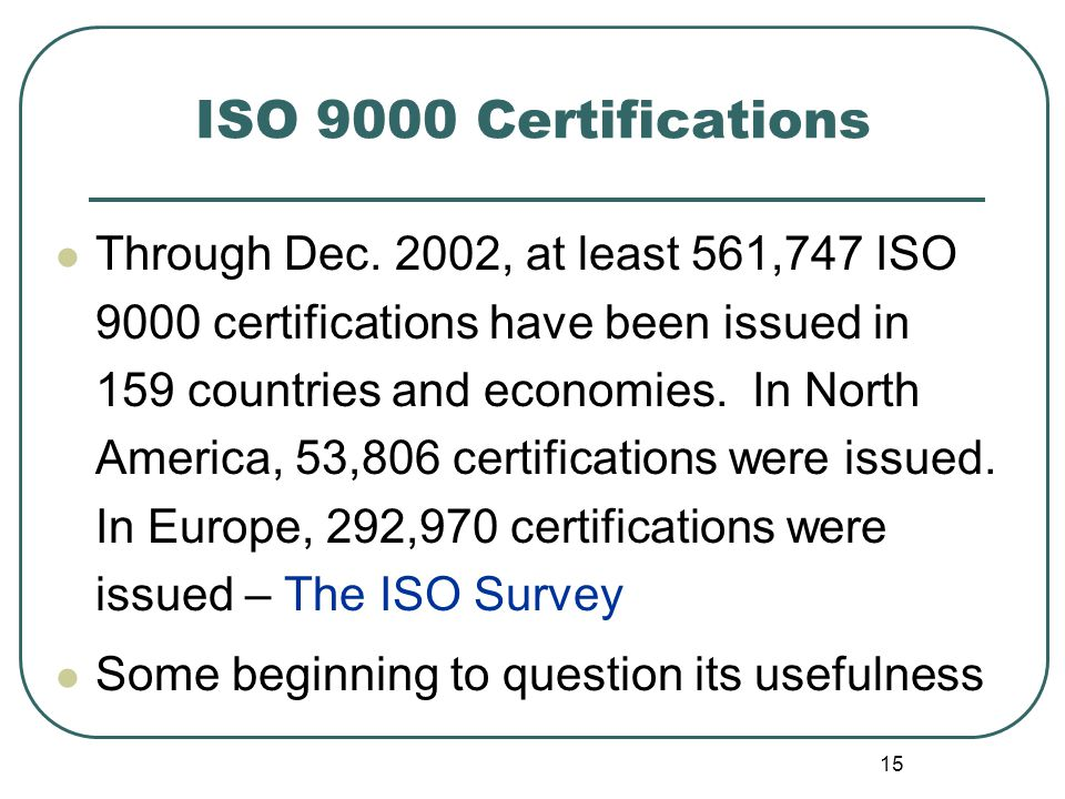 ISO 9000 Certifications