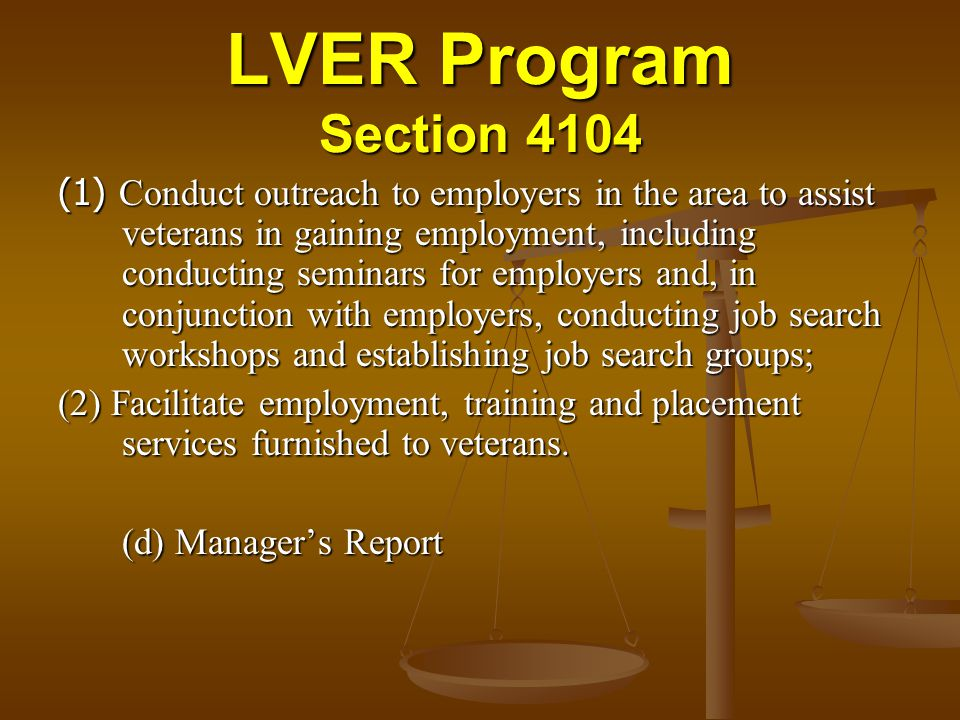 LVER Program Section 4104