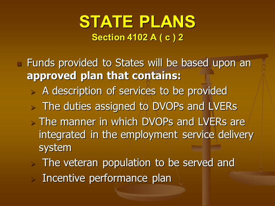 STATE PLANS Section 4102 A ( c ) 2
