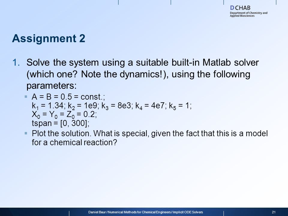 ordinary differential equations odes ppt  21 assignment