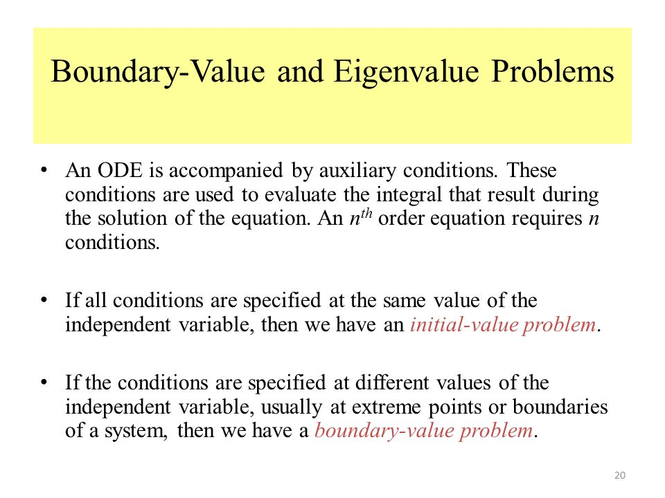 Boundary-Value and Eigenvalue Problems