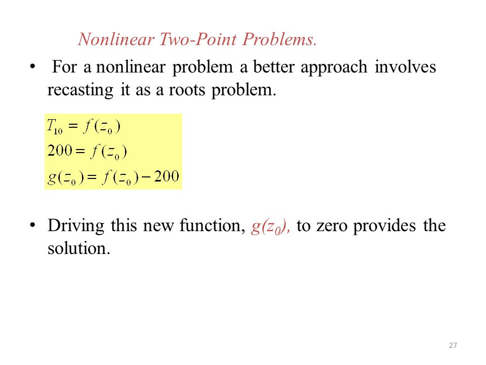 Nonlinear Two-Point Problems.