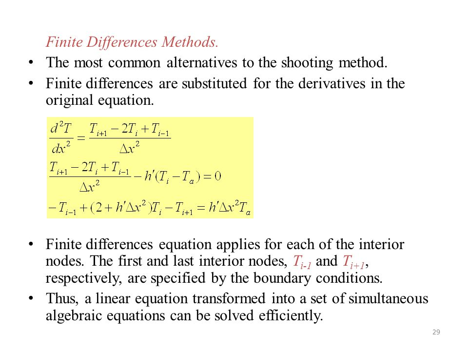Finite Differences Methods.