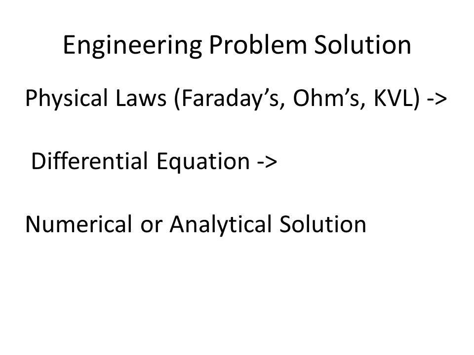 Engineering Problem Solution