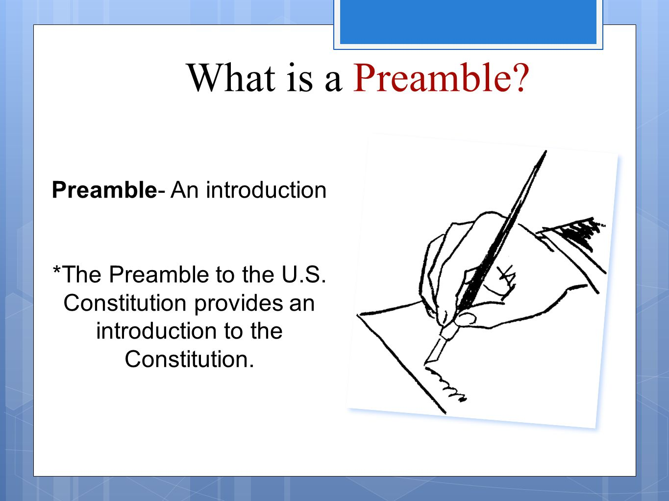 Preamble- An introduction