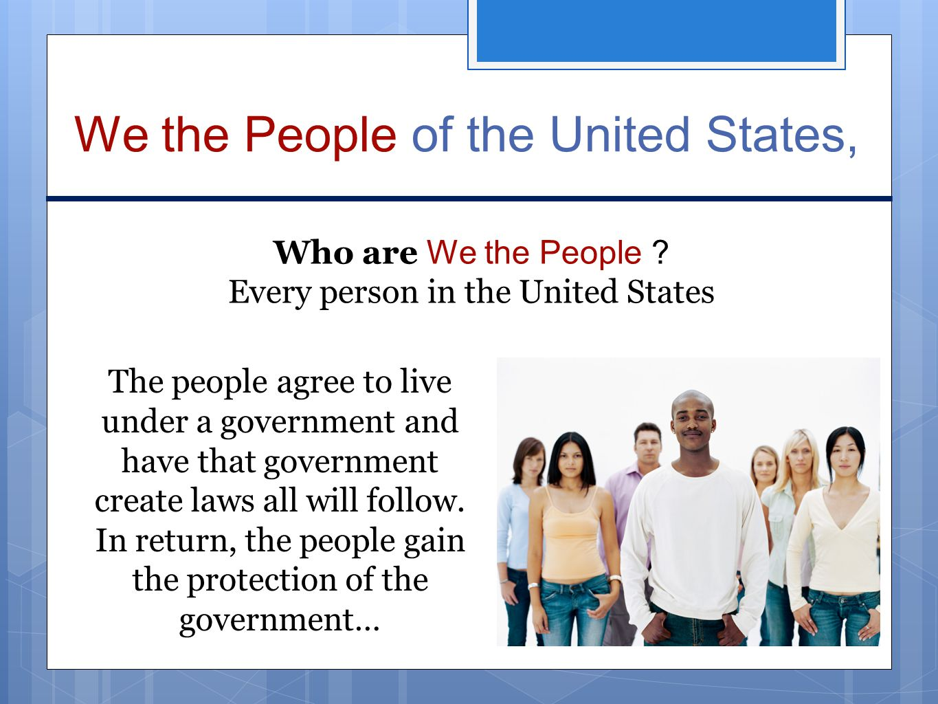 the rights of the people who live in the united states What does that mean for the future of the united states  the difference is no  longer about where people live, it's about how people live: in.
