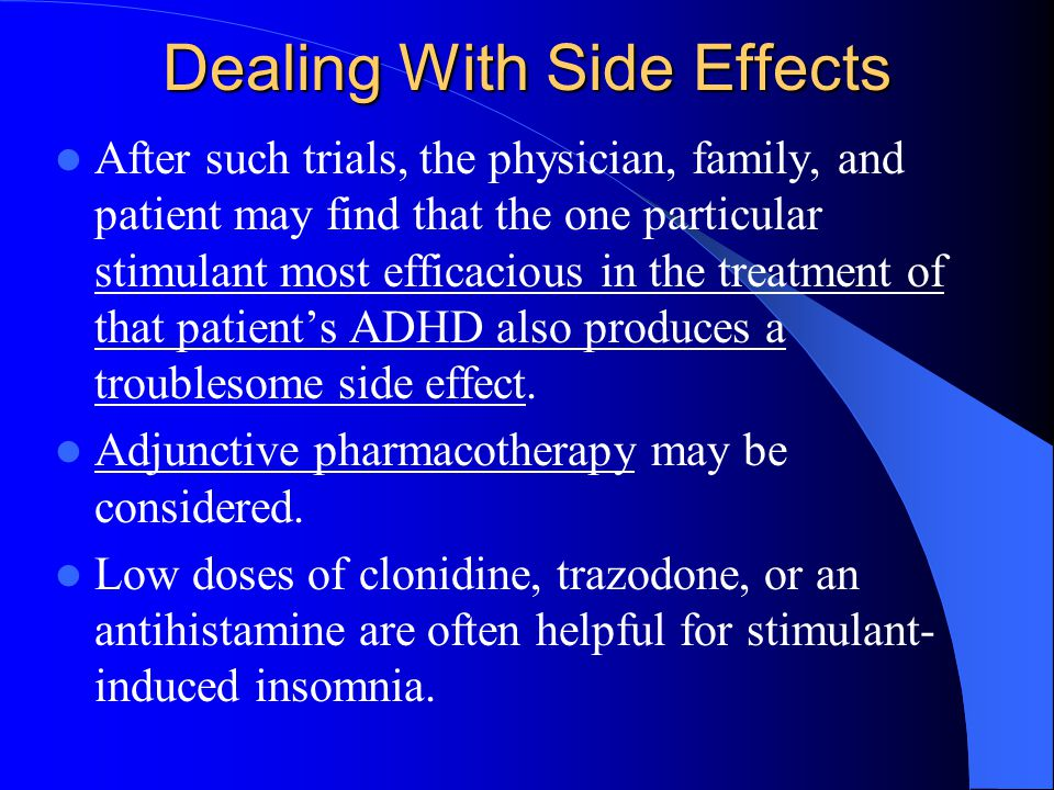 Clonidine Side Effects Adhd