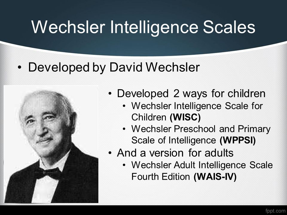 Wechsler Adult Intelligence Scale - Fourth Edition