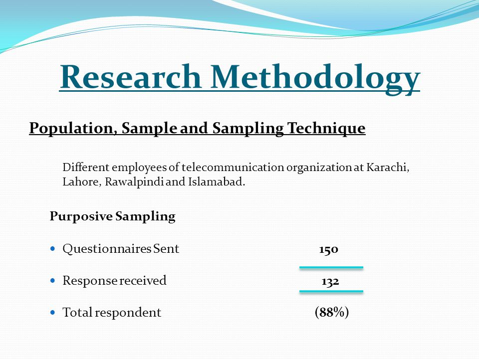 organisational research methodology The organizational culture assessment instrument (ocai) developed by cameron and quinn is a method to assess organizational culture substantial research was involved in developing the ocai.