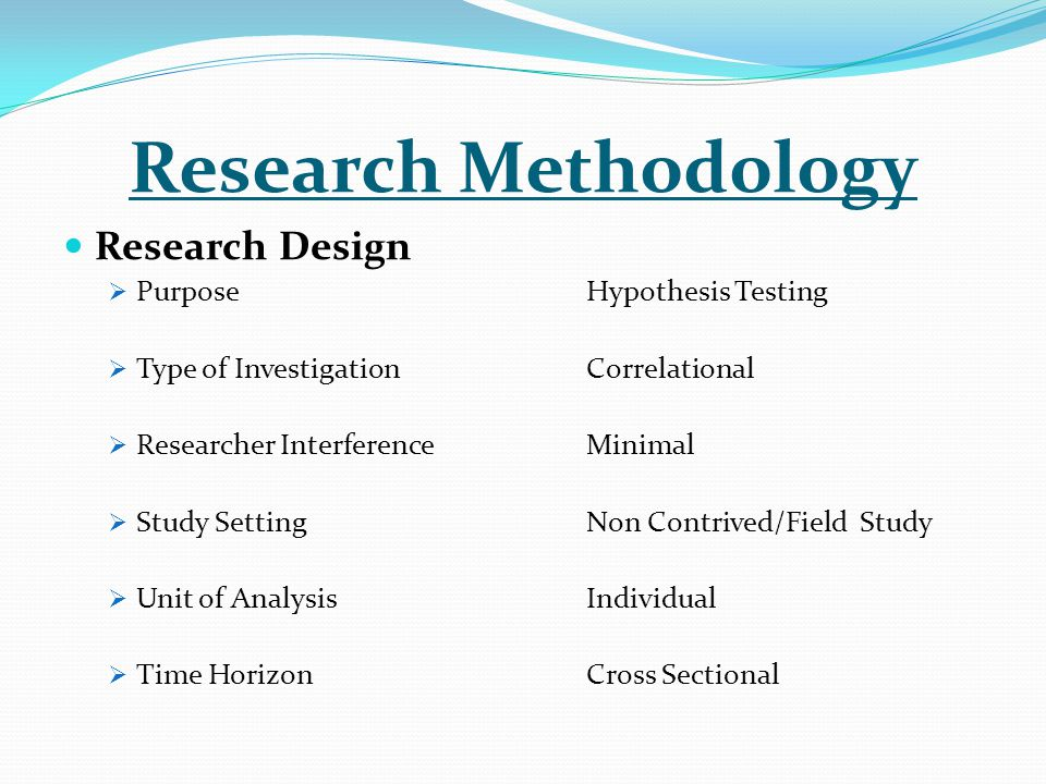 Research study design questionnaires