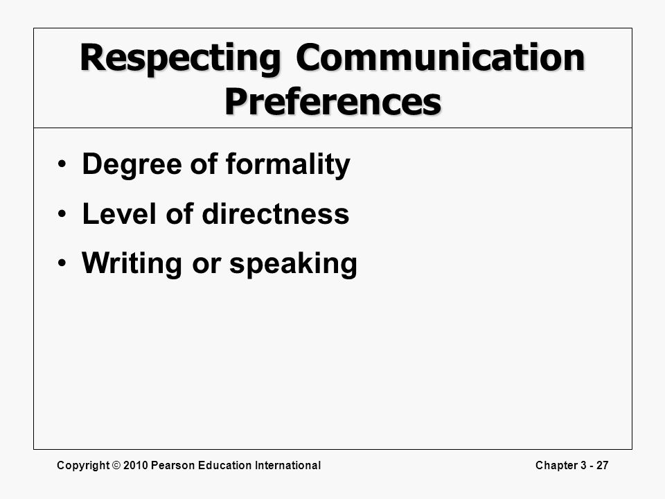 Respecting Communication Preferences