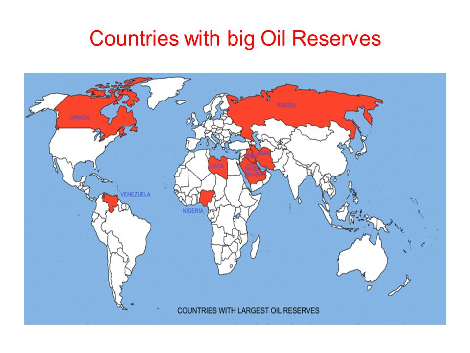 Countries with big Oil Reserves