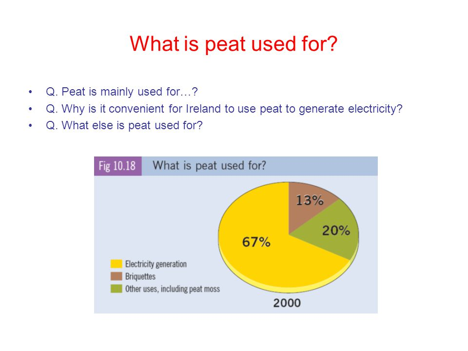 What is peat used for Q. Peat is mainly used for…