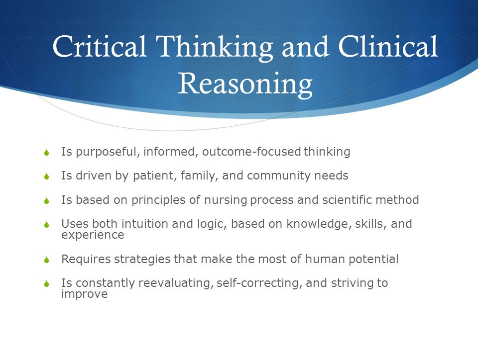 nursing process and clinical judgement Nursing times self-assessment this week's clinical practice articles: using judgement to improve accuracy in decision-making.