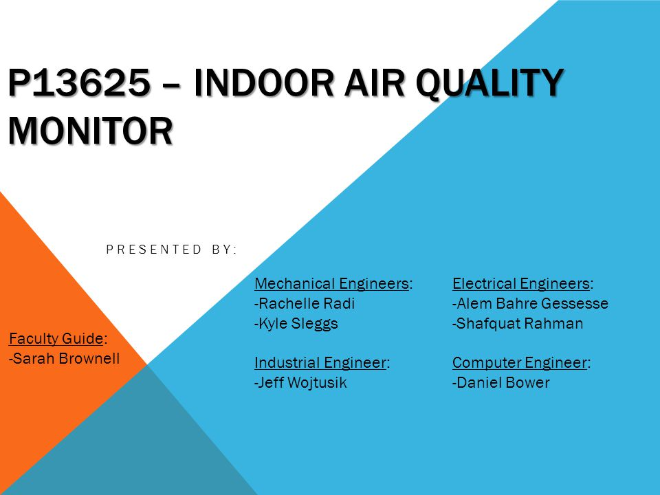 P13625 – Indoor AIR Quality Monitor - ppt video online download