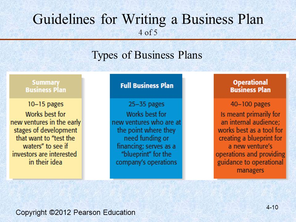 The Guide to Writing a Business Plan