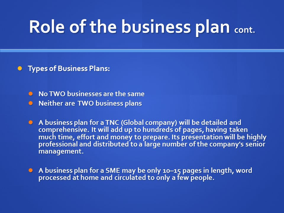 Two Types of Business Plan Executive Summaries