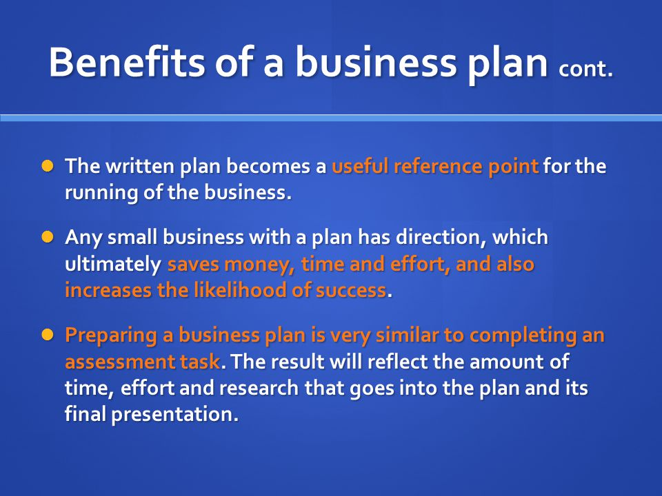 business studies assessment business plan The business plan format is a systematic assessment of all the factors critical to your business purpose and goals here are some suggested.
