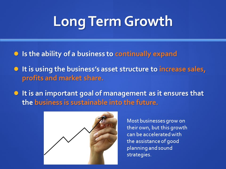 long-term assets examples for business plan
