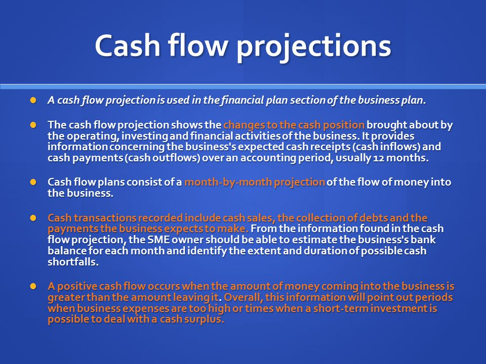 importance of break even point and cash flow Break-even analysis break-even point can be determined by calculating the point at which revenue received equals the total costs associated with the production of the goods or services selling price is an important determinant of break-even analysis.