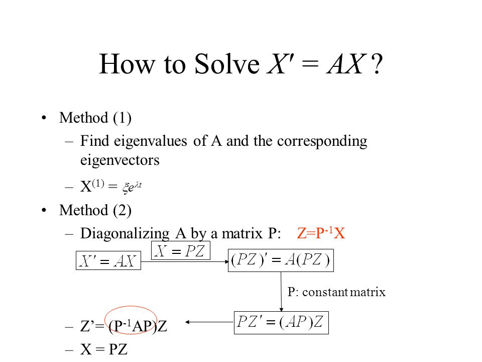How to Solve X = AX Method (1)