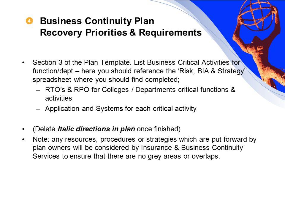 rto business plan example