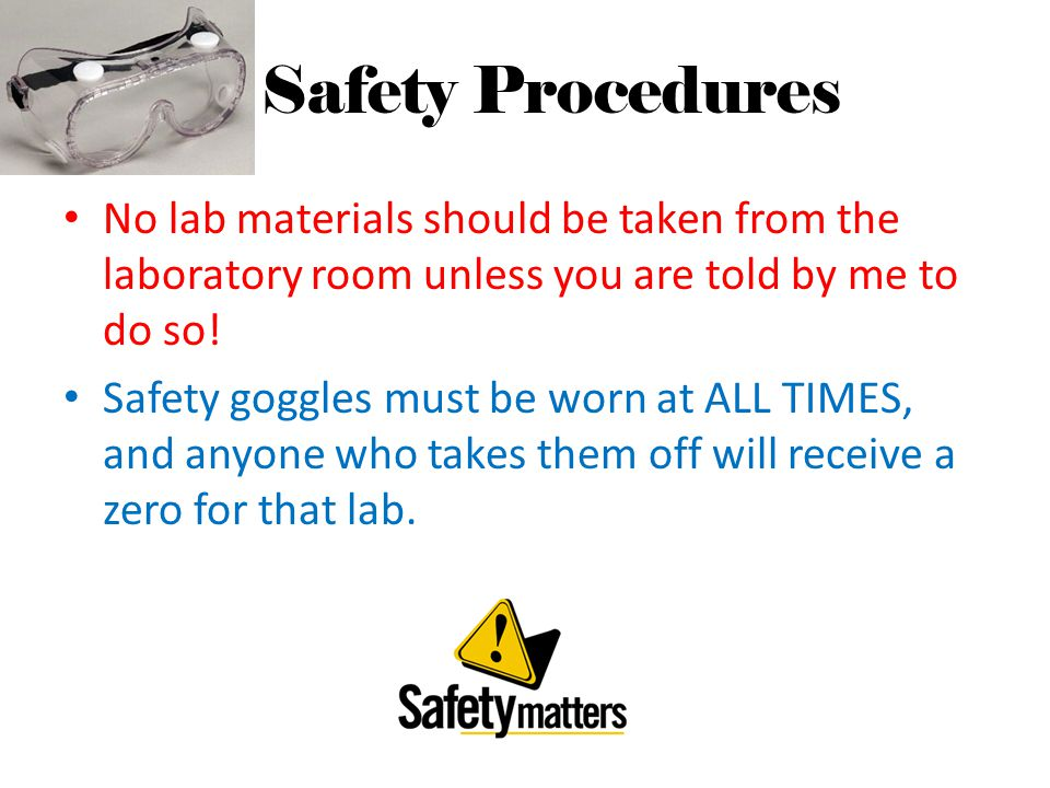 Do Now List 5 Safety Rules One Might Encounter In The