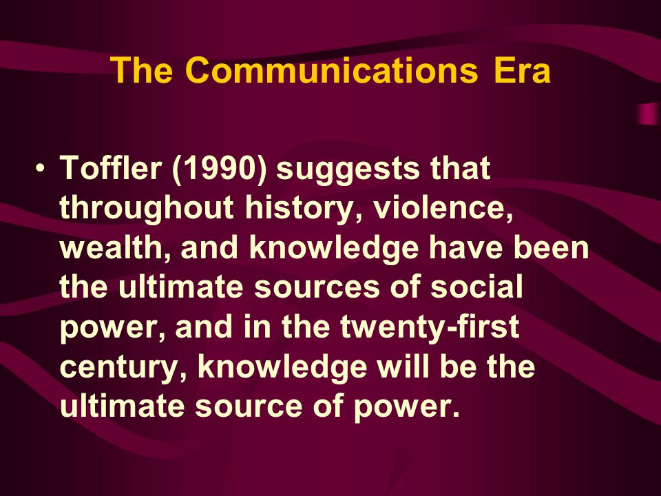 The Communications Era