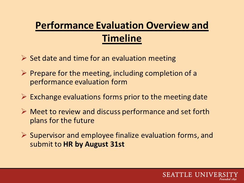 2010 Performance Evaluation Process Information Session