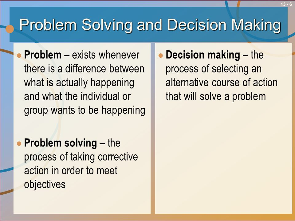problem solving and decision making course