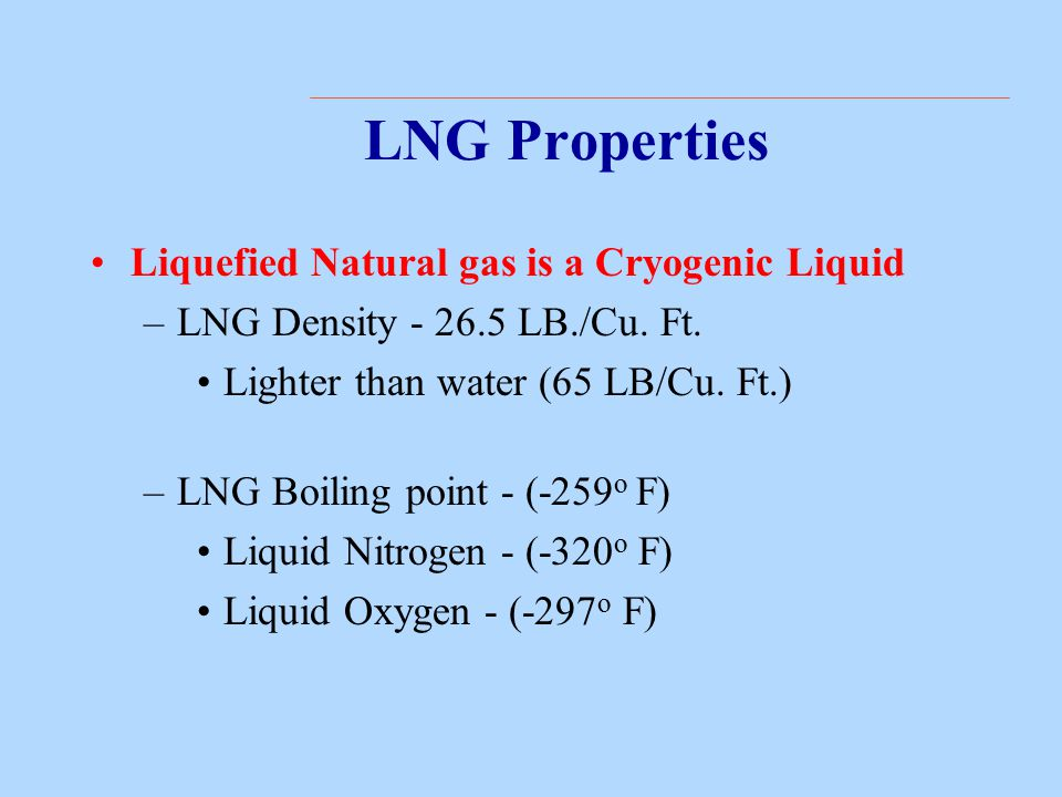 Properties Of Lng Ppt Video Online Download