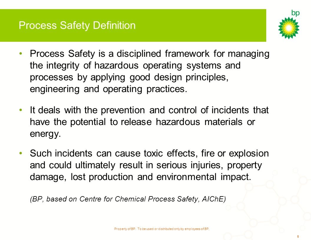 process safety and operation integrity Wee ust use ead g d cato s p ocess sa ety must use leading indicators in process safety if we hope to drive continuous improvement we must address culture for sustainable performance.