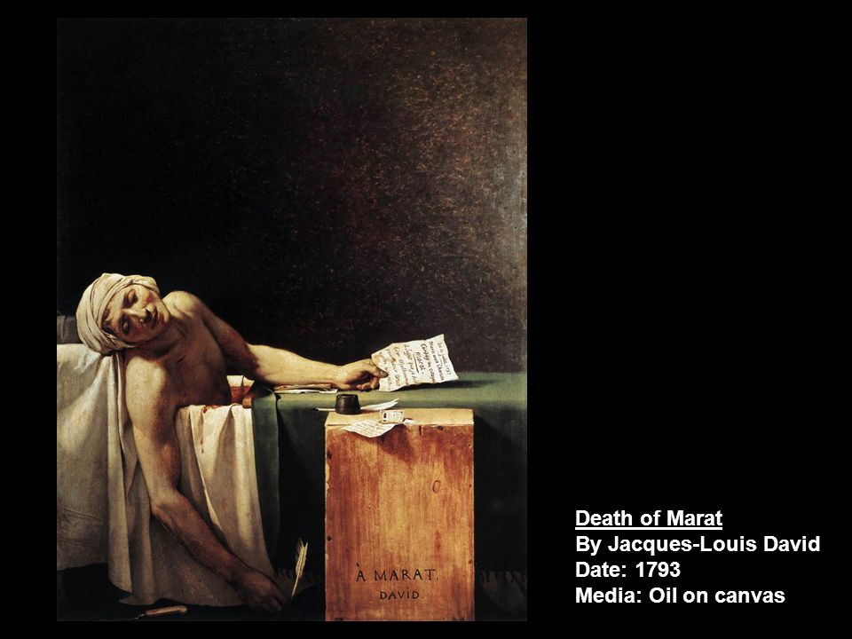 Death of Marat By Jacques-Louis David Date: 1793 Media: Oil on canvas