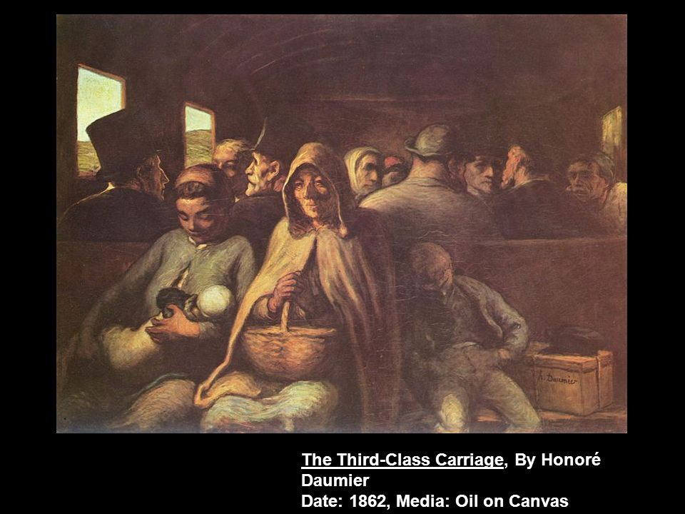 The Third-Class Carriage, By Honoré Daumier Date: 1862, Media: Oil on Canvas