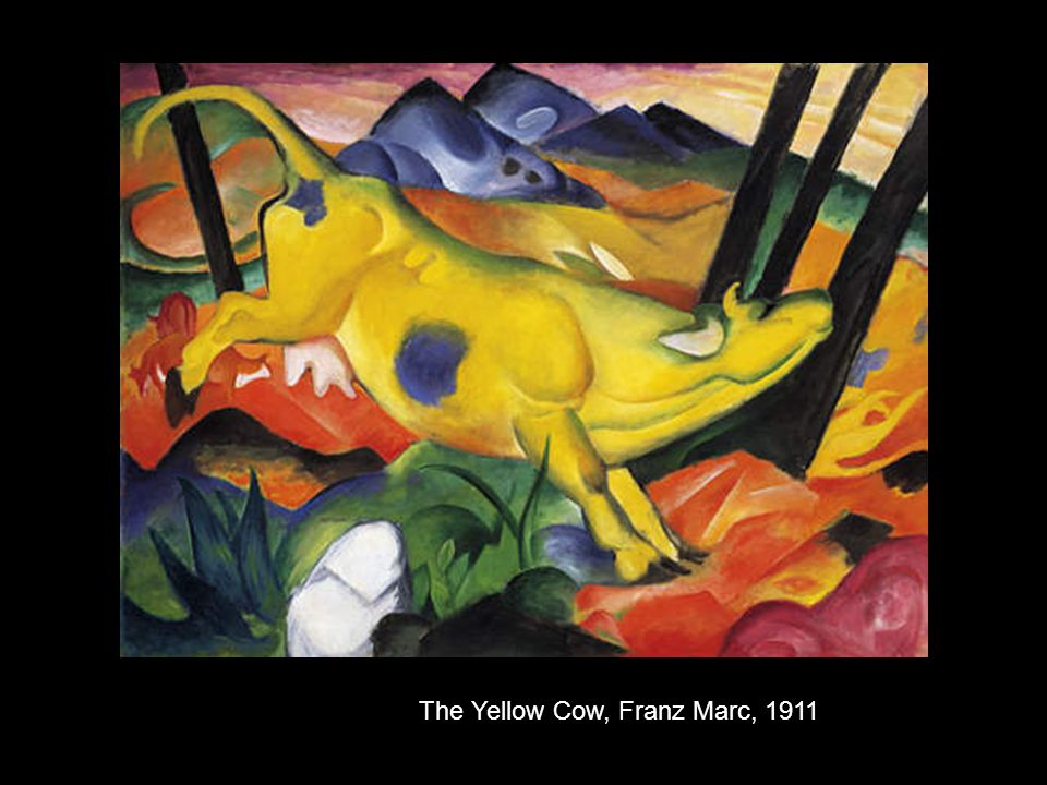 The Yellow Cow, Franz Marc, 1911