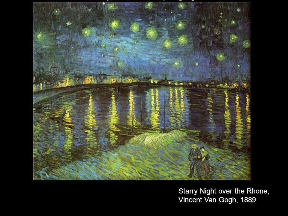 Starry Night over the Rhone, Vincent Van Gogh, 1889