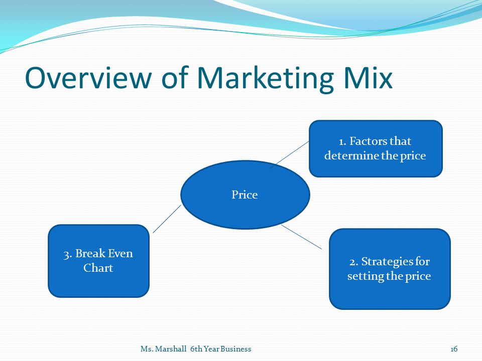 factor determine marketing mix The marketing mix is the perfect they need to determine what product you will also need to consider competitor pricing and factors within your marketing.