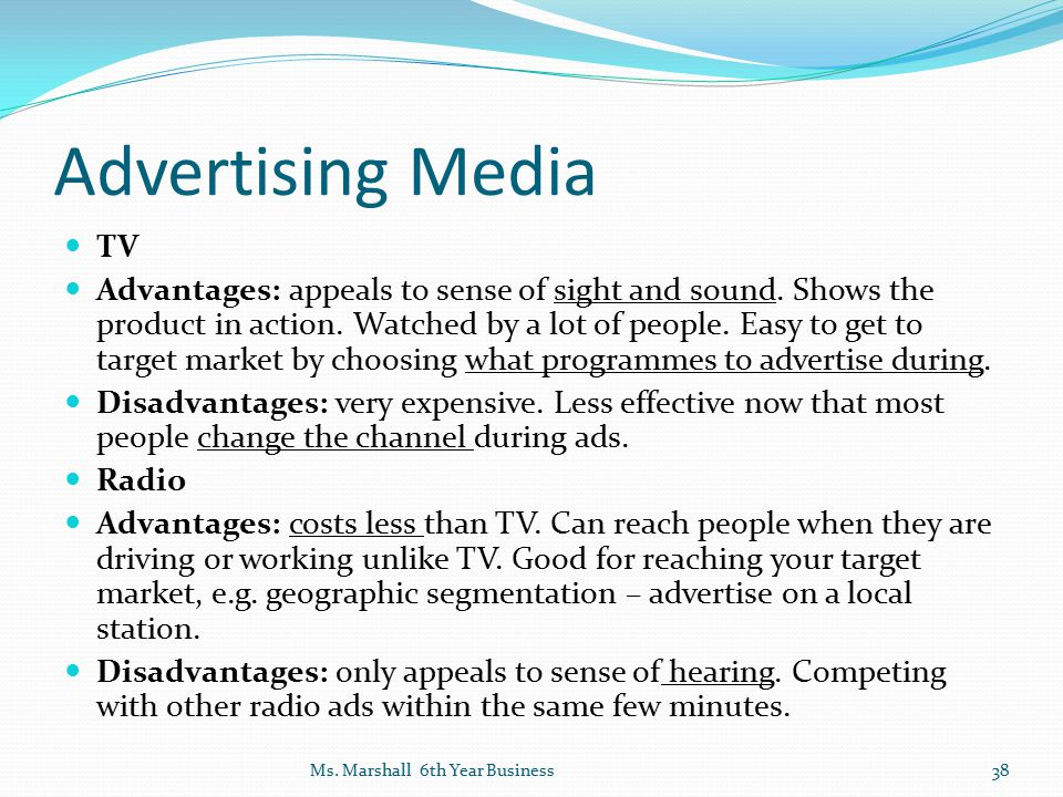 Advertising Media TV.