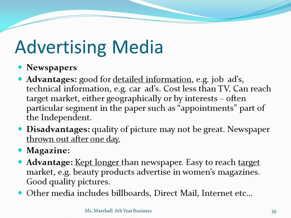 Advertising Media Newspapers