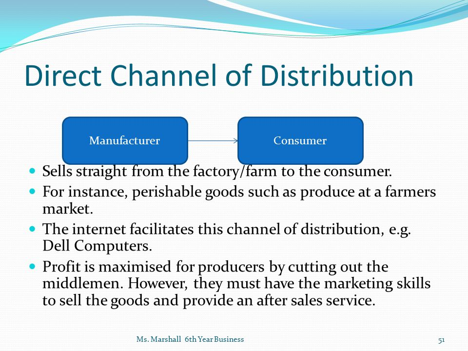Direct Channel of Distribution