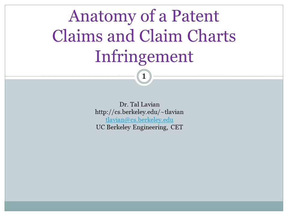 Anatomy of a Patent Claims and Claim Charts Infringement - ppt video ...