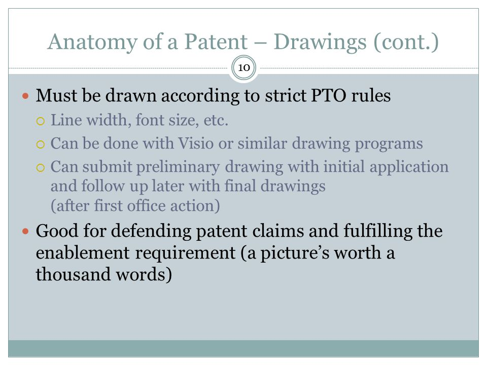 Anatomy of a Patent – Drawings (cont.)