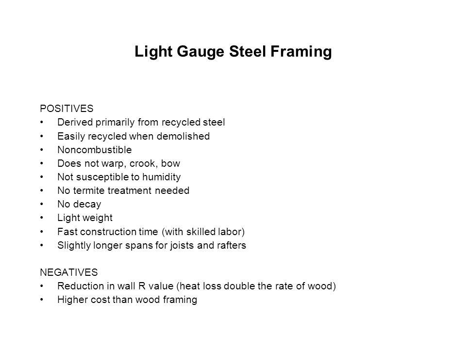 Dorable Light Gauge Metal Framing Advantages And Disadvantages Motif ...