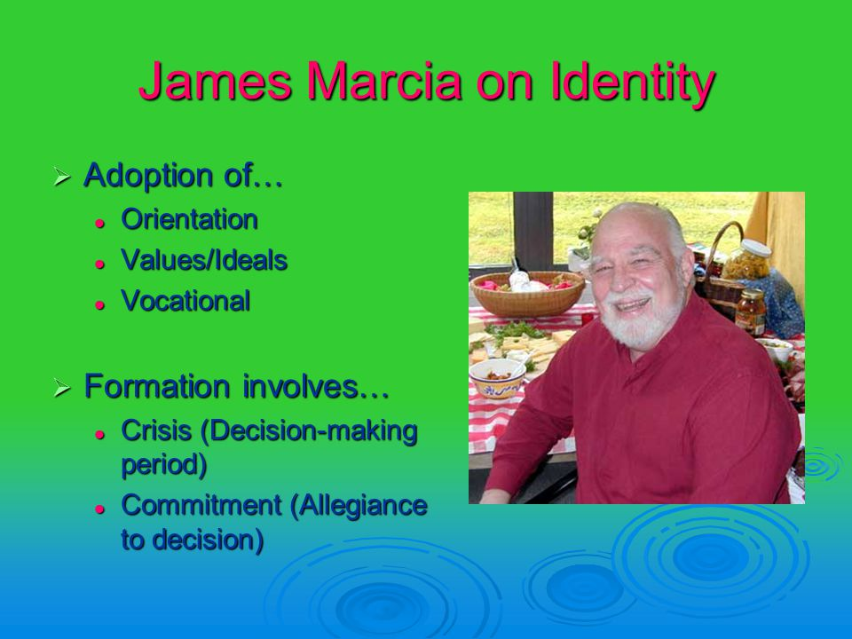 an introduction to the analysis of james marcias identity status of moratorium Academic identity status and the relationship to achievement goal orientation self-report measure of academic identity status found-ed in marcia's theory of.