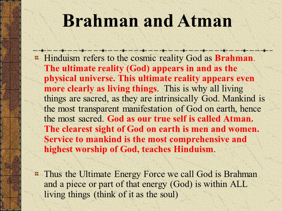 Brahman and Atman
