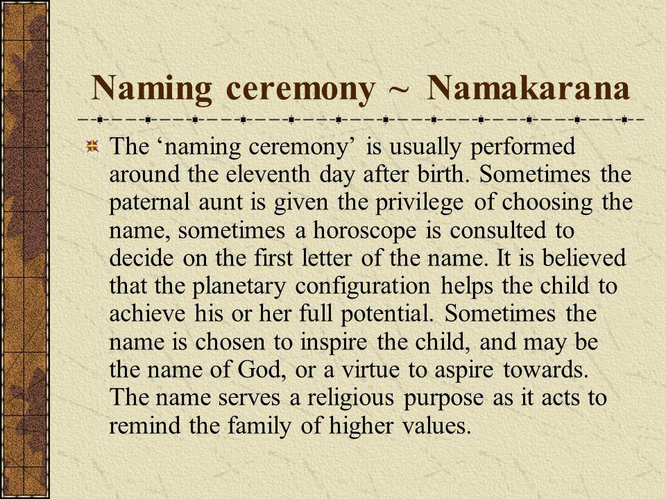 Naming ceremony ~ Namakarana