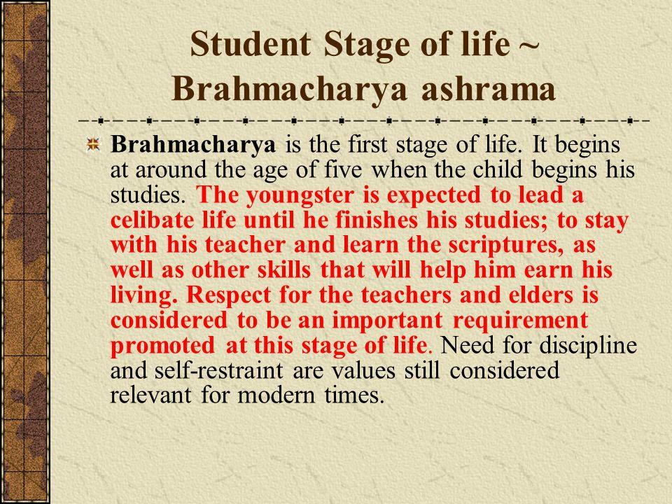 Student Stage of life ~ Brahmacharya ashrama