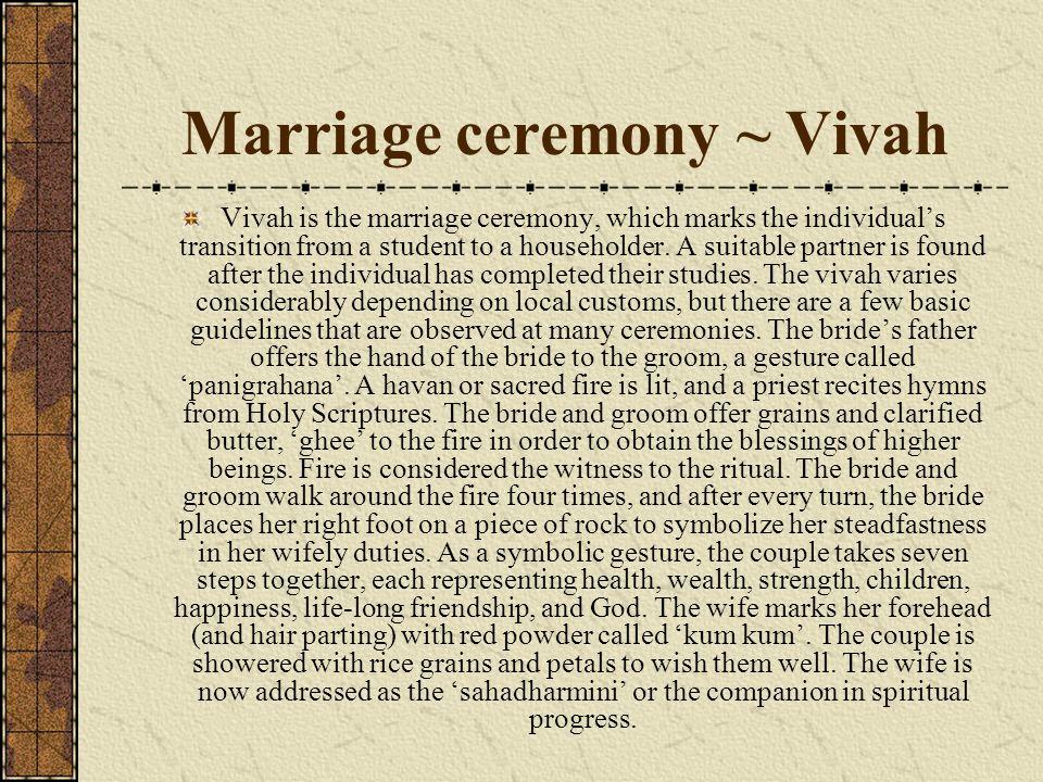 Marriage ceremony ~ Vivah
