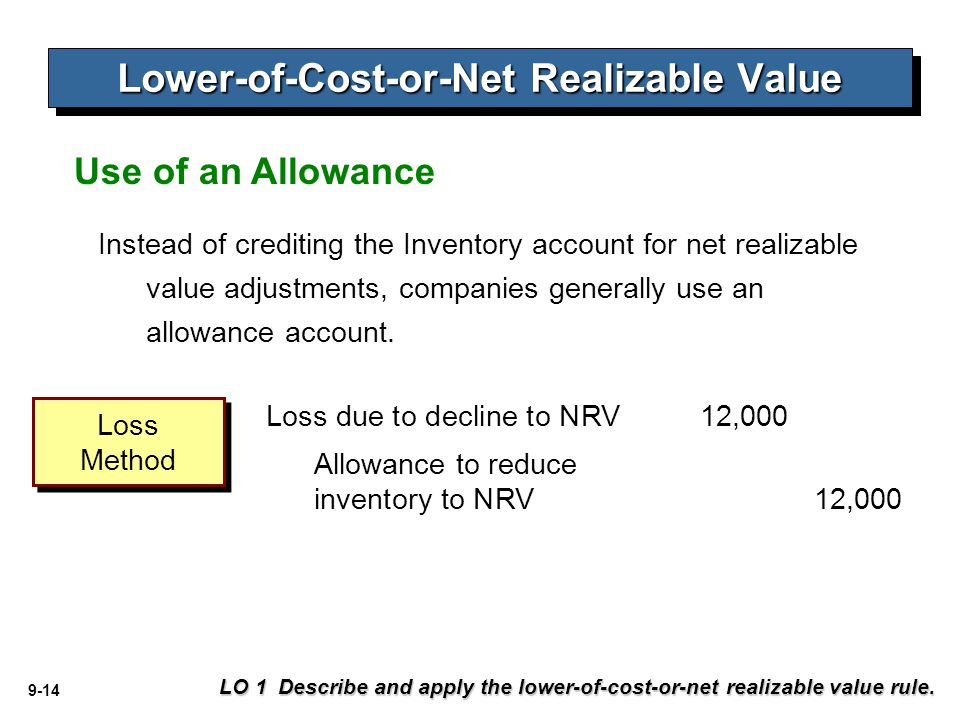 how to find net realizable value